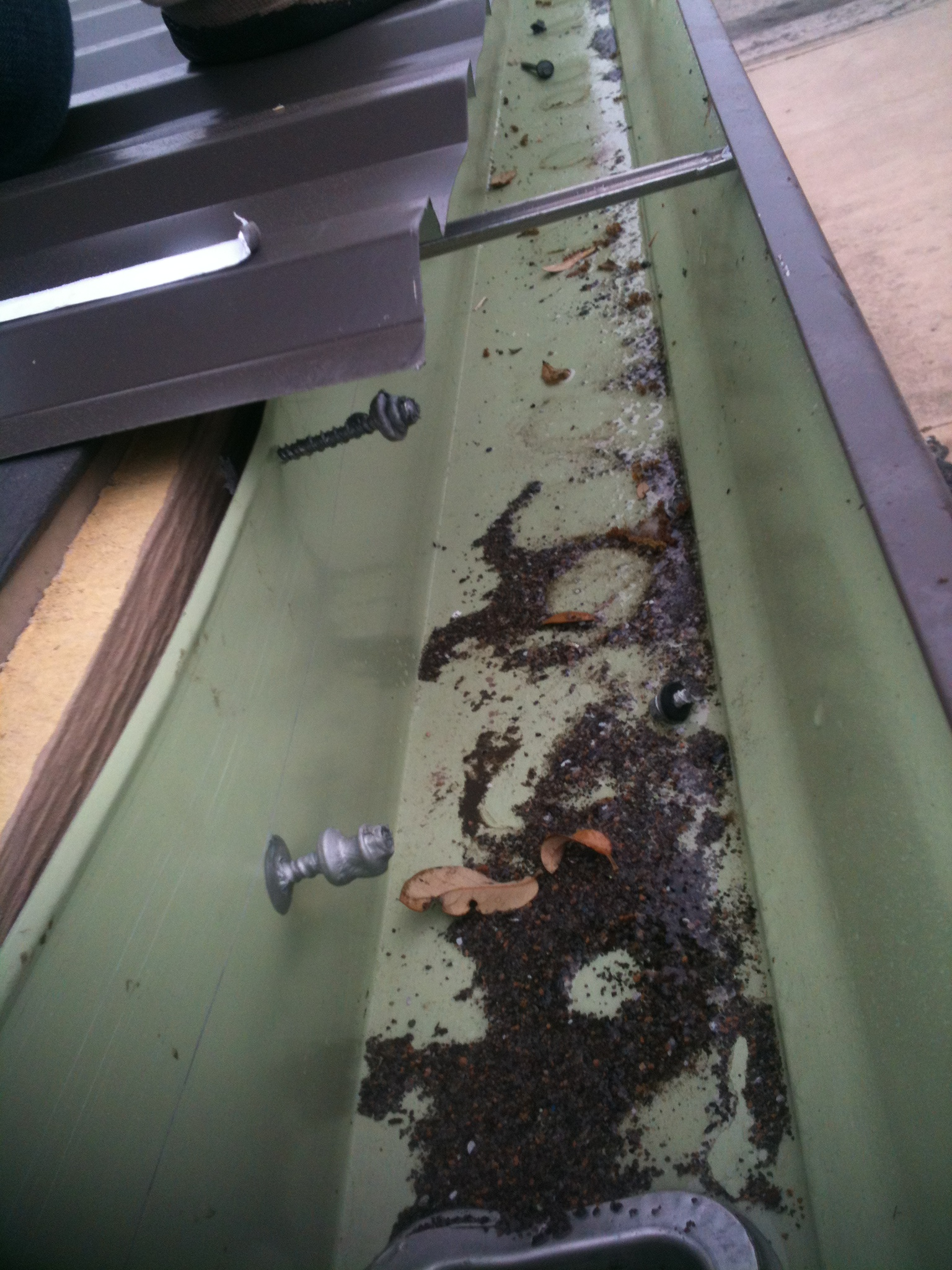 Roof Gutter Damage - Waco, Texas