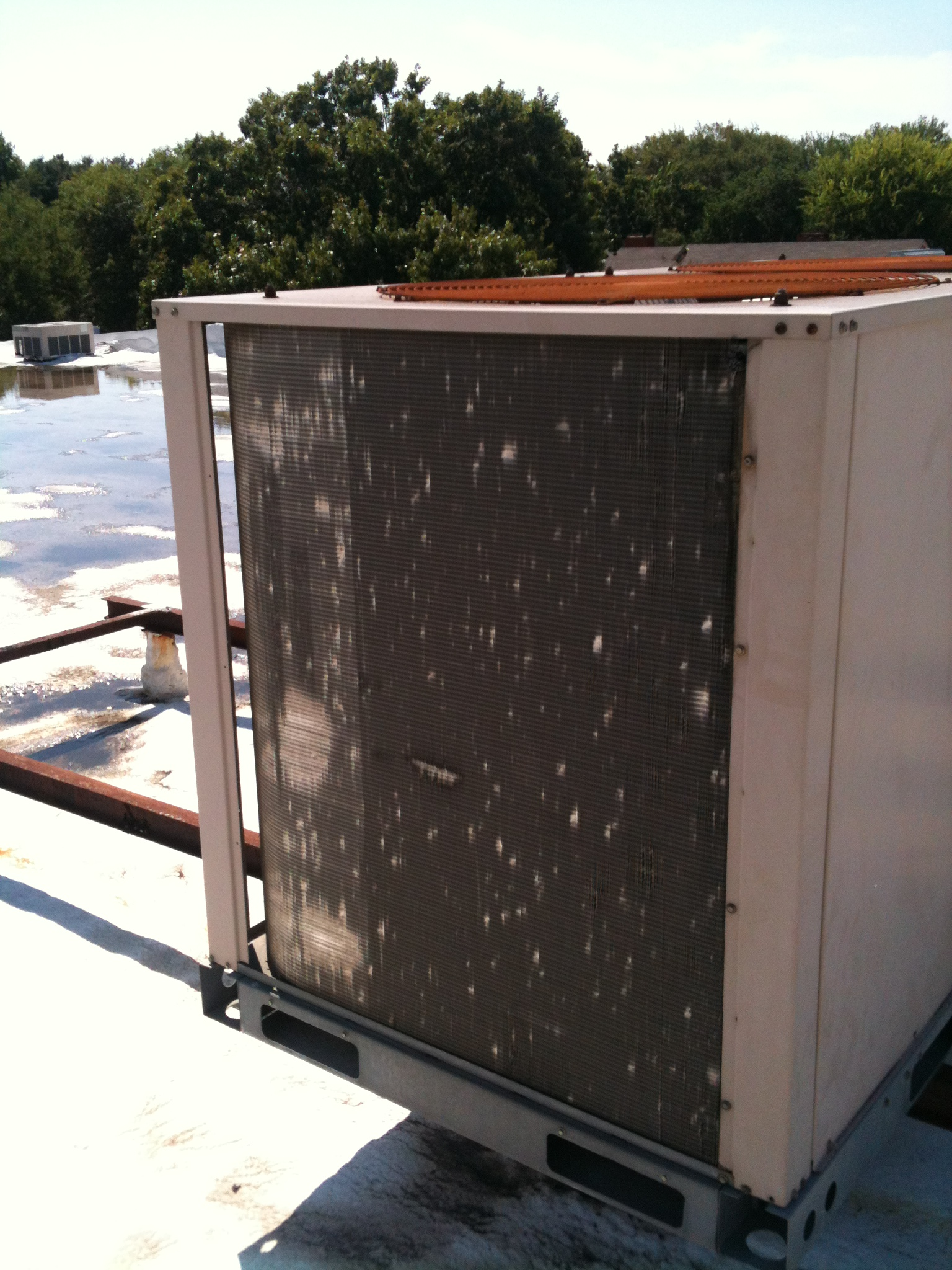 Air Conditioner Vent Hail Damage - Central Texas Roofing
